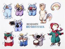 "Bushytail Benjamin Squirrel Paper Doll Post Card Large 7x6"" Rare! Mint Shackman"