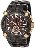 New Mens Renato Vulcan 46mm Brown Dial Swiss Chronograph Brown Dial Watch