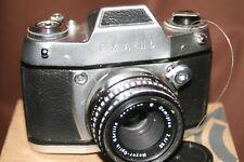 Ihagee Exa IIb 35mm SLR Film Camera + Meyer-Optik 50mm 1:2.8 Lens +Eveready Case