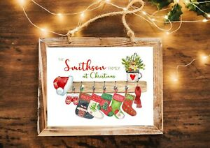 A4 Personalised Family Stockings Print Christmas Unique Christmas Decoration