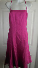 RALPH LAUREN 100% LINEN THIN SPAGHETTI STRAPS SUMMER DRESS 12 L
