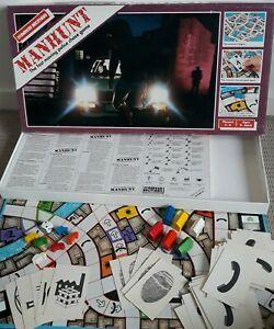 Manhunt Board Game COMPLETE Parker Brothers Vintage 1987 Police Chase Game