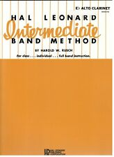 "Hal Leonard Intermediate Band Method ""Alto Clarinet"" Music Book-Rare-New On Sale"