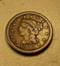 1853 one cent