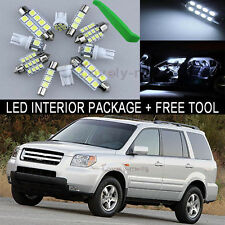White LED Interior Package Light Bulb 18X Kit For 2003 2005 Honda Pilot + Tool J
