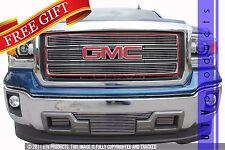GTG 2014 2015 GMC Sierra 1500 4PC Polished Upper Insert Billet Grille Grill Kit