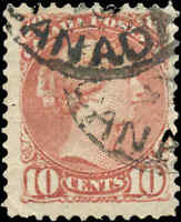 Canada Used 1877 10c F+ Scott #40 Small Queen Stamp
