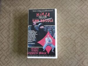 SHAOLIN TEMPLE STRIKES BACK NINJA THEATER w/SHO KOSUGI RARE CLAMSHELL VHS 1981!