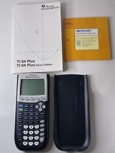 Texas Instruments TI-84 Plus Graphing Calculator w Manual & CD - Pre-owned
