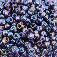 Miyuki Round Seed Beads Size 8/0 Silver Lined Amethyst AB 24GM-Tube (8-1024)