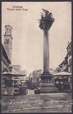 VERONA CITTÀ 157 MERCATO Cartolina viaggiata 1926