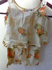 *One of a kind hand made in Hawaii ADORABLE 2 piece TROPICAL top and pants L@@K!