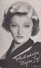 myrna  loy -  hollywood  MOVIE  STAR/actress 1940s  arcade/exhibIit card