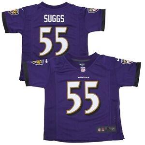 Terrell Suggs Ravens Pre-School  Kids Game Jersey By Nike - Purple