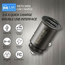 Mini Dual USB Fast Car Charger Smart Adapter For iPhone Samsung Google LG