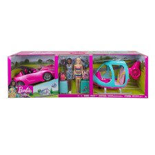 Barbie Girls Getaway Adventure Helicopter and Vehicle Set