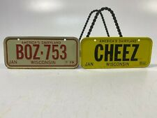 Vtg Collectible MiniBike License Plates Set of 2! State Of Wisconsin