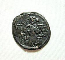 BYZANTINE, AE FOLLIS, CLASS D. CONSTANTINE IX 1042-1055 AD. JESUS KING OF KINGS