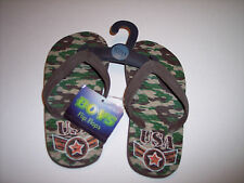 NEW CAMO CHILDRENS FLIP FLOPS FREE S/H SIZE 10/11