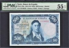 Spain 500 Pesetas 1954 (ND-1958) Pick-148a About UNC PMG 55 EPQ
