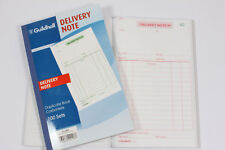 GUILDHALL '100 SET' DUPLICATE CARBONLESS DELIVERY NOTE BOOKS. PRE-PRINTED PAPER.