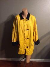 Womens USRL MARINE JACKET Clasps RL 67 Polo YELLOW Rain RALPH LAUREN Coat 3XL
