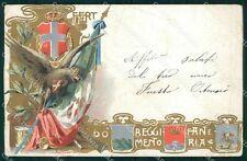 Militari Reggimentali 60º Reggimento Fanteria PIEGATA cartolina XF5173