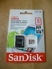 SanDisk Ultra 8GB Micro SDHC Class 10 Memory Card SD Adapter Speed Up To 48 MB/s