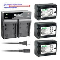 Kastar Battery LCD Rapid Charger for Panasonic VW-VBT190 VBT190 VW-VBT380 VBT380