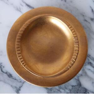 SASCHA BRASTOFF modernist GOLD LEAF art pottery FOOTED BOWL mid-century NO RESRV