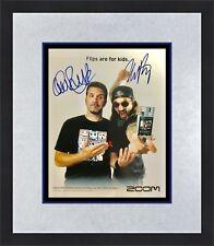 Mike Portnoy & Charlie Benante  Autograph 8x10 ZOOM Promo Ad Custom Framed