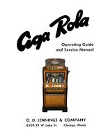 Jennings Ciga-Rola Slot Machine Operating Guide & Service Manual 1937 (26 Page)