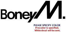 "BONEY M Metal Music Rock Graphic Die Cut decal sticker Car Truck Boat Window 12"""