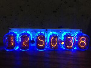 Nixie Tube Assembled Big Desk Clock and Calendar Vintage IN-12 x 6 Russia