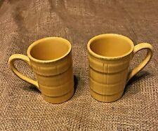 """AMERICAN ATELIER SEVILLE MUGS-GOLD//YELLOW- 4 1/2"""" SET OF TWO"""