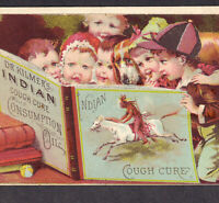 Dr Kilmers Indian Oil Consumption Cure 1800's Cough Remedy Victorian Trade Card