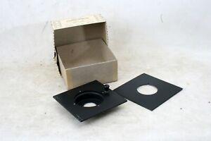 Beseler 4x4 lensboards (2): 20mm recess w/25mm hole, flat w/41.5mm hole
