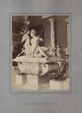 Galerie du Louvre Sculpture Photo De Roux Paris France Vintage Albumine ca 1875
