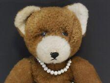 lieber Teddybär antik Holzwolle Glasaugen 50er Vintage Bär