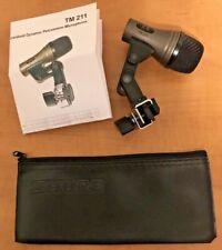 Used Cad Tm 211 Tom Bongo Cajon Drum Mic+clip+Shure SM58 Microphone Case TM211