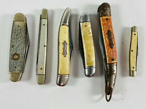 Lot (6) Vintage Folding Pocket Knives New Britain Sabre Imperial Colonial