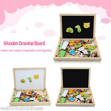 Muwanzi Education Wooden Magnetic Drawing Board Puzzle Toys for Kids GIFT