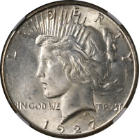 1927-S Peace Dollar NGC MS64 Great Eye Appeal Nice Luster Strong Strike