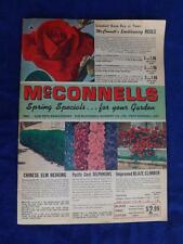 MCCONNEL'S NURSERY CATALOG PORT BURWELL ONTARIO CANADA 1967 TREES FLOWERS ROSES