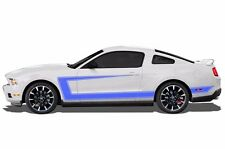 Vinyl Graphics Decal Side C-Stripe Wrap Kit for 2010-2014 Ford Mustang GT BLUE