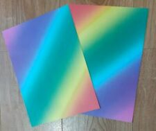 15 x A4 Sheets of Rainbow Card 200gsm for cards / scrapbooking etc NEW