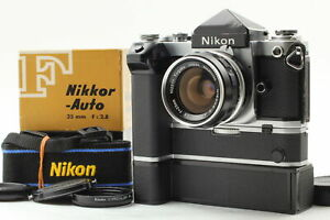 【EXC+5】Nikon f2 Eye Level MB-1 & MD-2 Drive Nikkor-S Auto 35mm f2.8 From JAPAN
