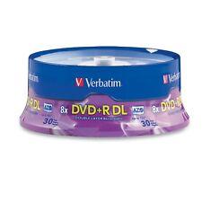 Verbatim DVD+R DL 8.5GB 8X Branded 30-Pack Spindle