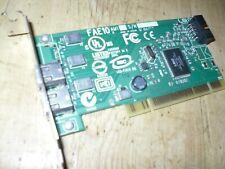 PCI FIREWIRE CARD LOW PROFILE 2 PORT INTERNAL HEADER FAE10 AM1