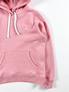 Jack Wills Women's Hoodie Pheasant Logo Popover Sweatshirt Pink